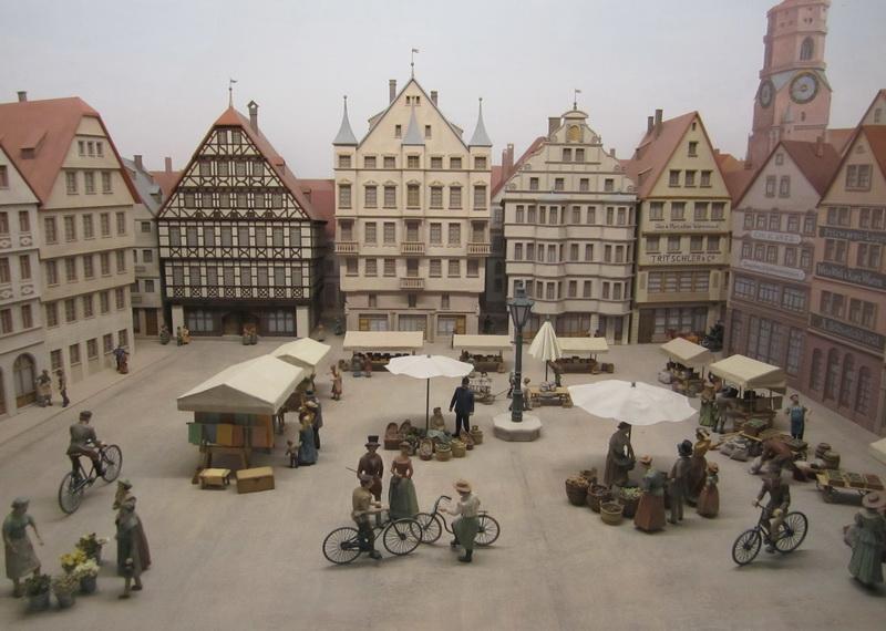Diorama Stuttgarter Marktplatz um 1890