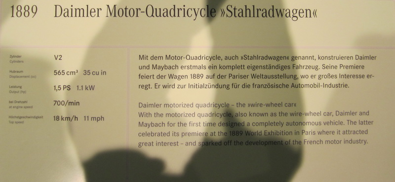 Daimler Motor-Quadricycle 1889