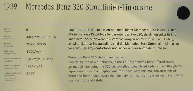 Mercedes-Benz 320 Stromlinien-Limousine 1939