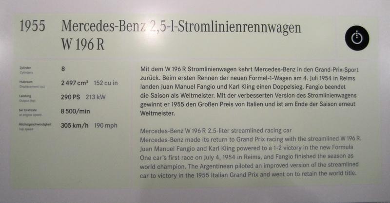 Mercedes-Benz 2, 5 L Stromlinienrennwagen W 196 R 1955