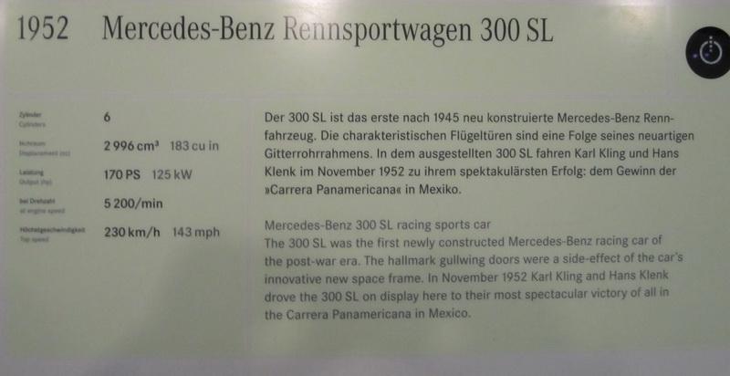Mercedes-Benz Rennsportwagen 300 SL 1952