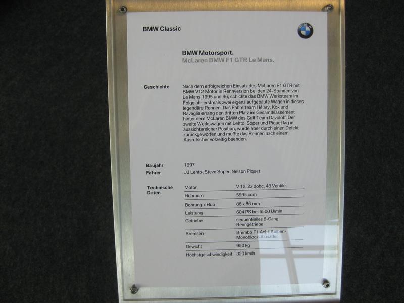 McLaren BMW F1 GTR LeMans